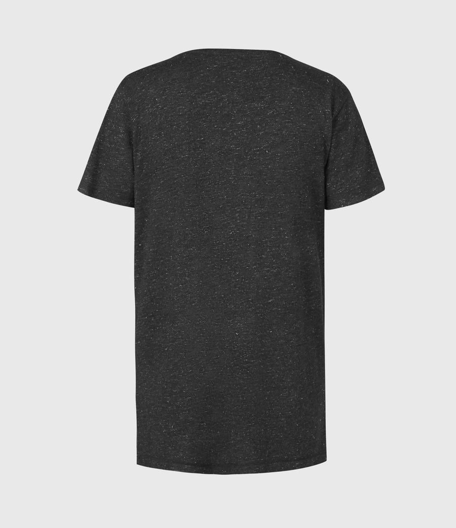 Womens Emelyn Shimmer T-Shirt (charcoal_grey) - Image 3