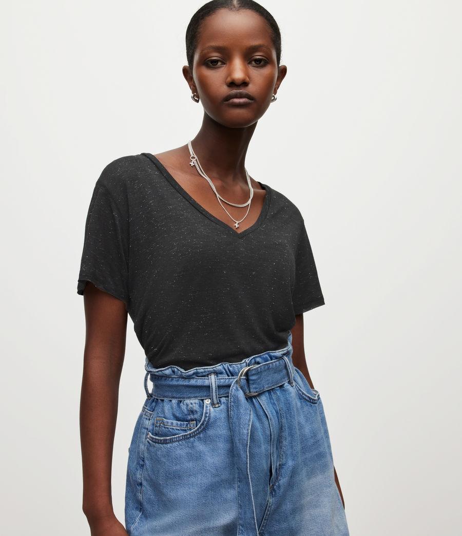 Women's Emelyn Shimmer T-Shirt (black) - Image 1