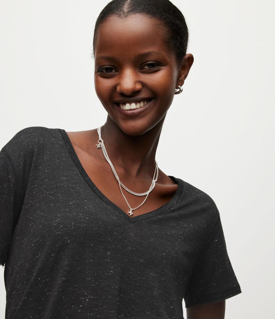 Women's Emelyn Shimmer T-Shirt (black) - Image 2
