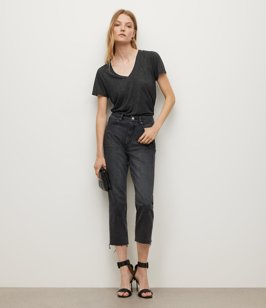 Women's Emelyn Shimmer T-Shirt (black) - Image 3
