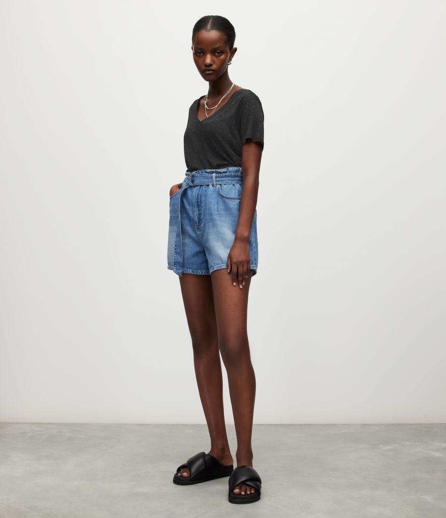 Women's Emelyn Shimmer T-Shirt (black) - Image 4
