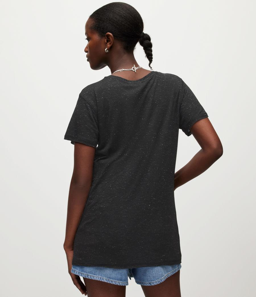 Women's Emelyn Shimmer T-Shirt (black) - Image 5