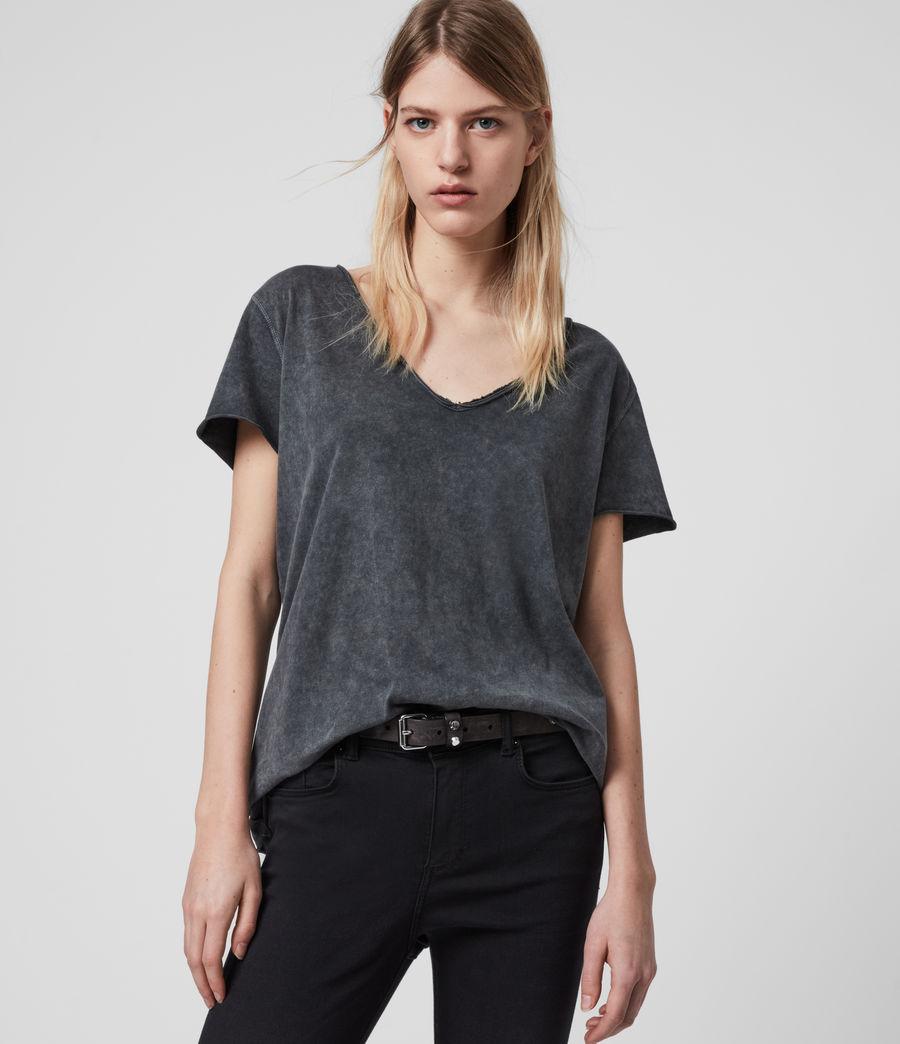 Womens Emelyn Budan T-Shirt (acid_washed_black) - Image 1