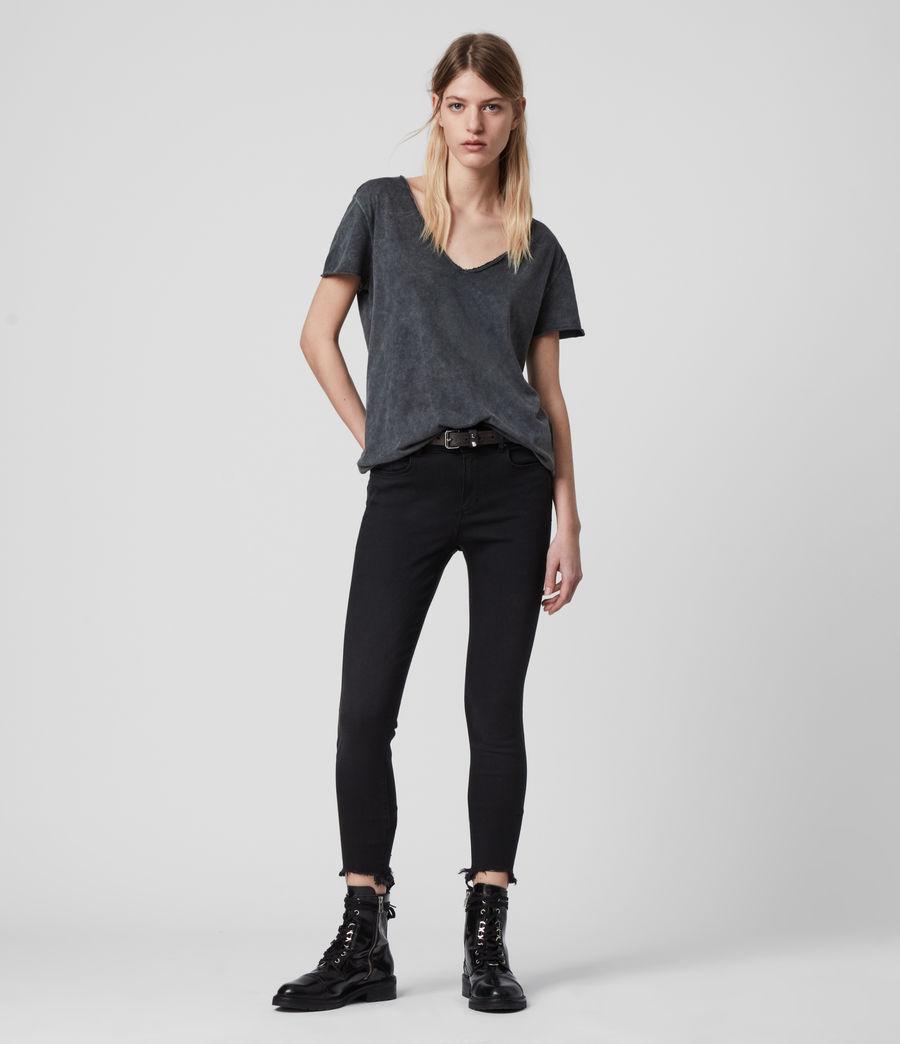 Womens Emelyn Budan T-Shirt (acid_washed_black) - Image 3