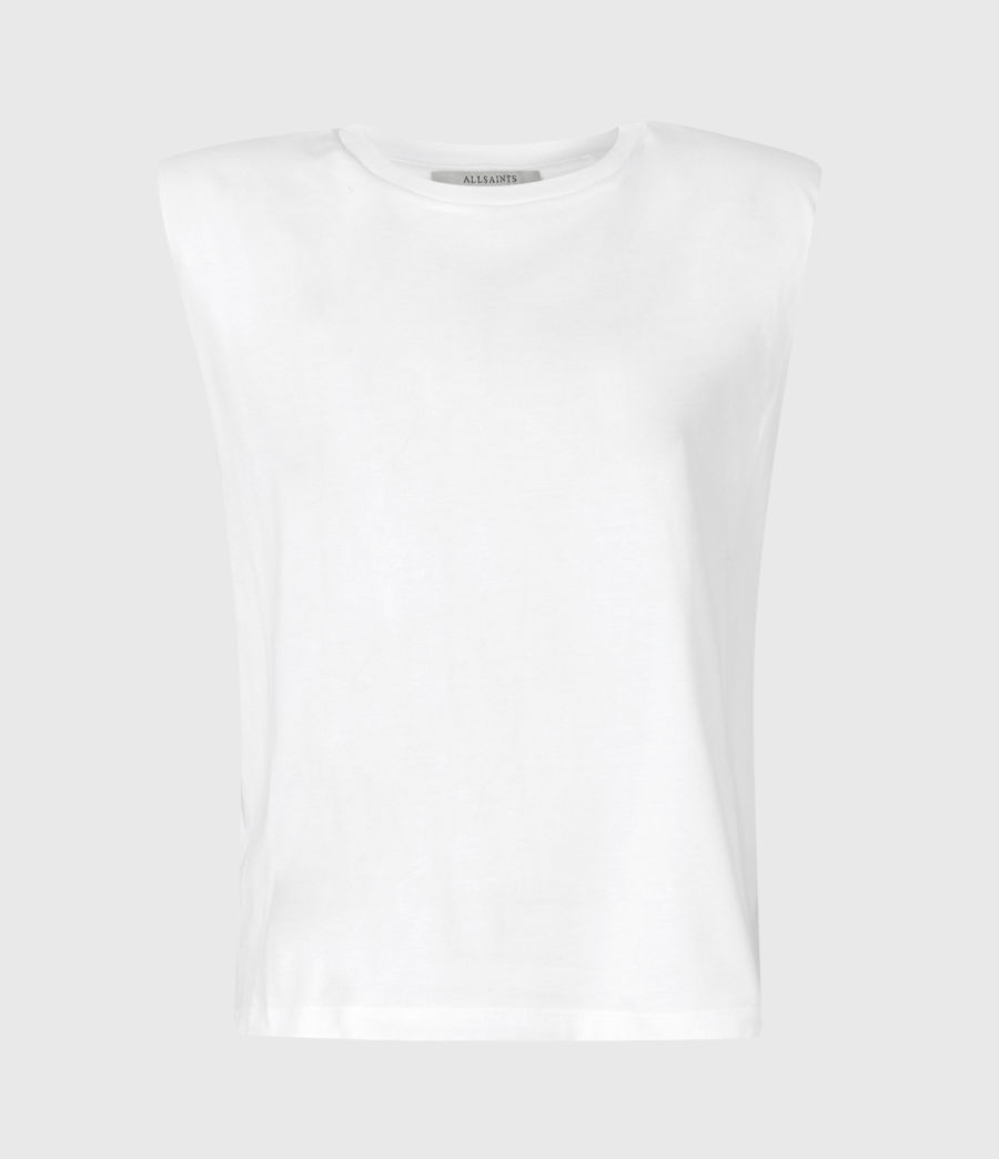 Women's Coni Organic Cotton Tank (optic_white) - Image 2