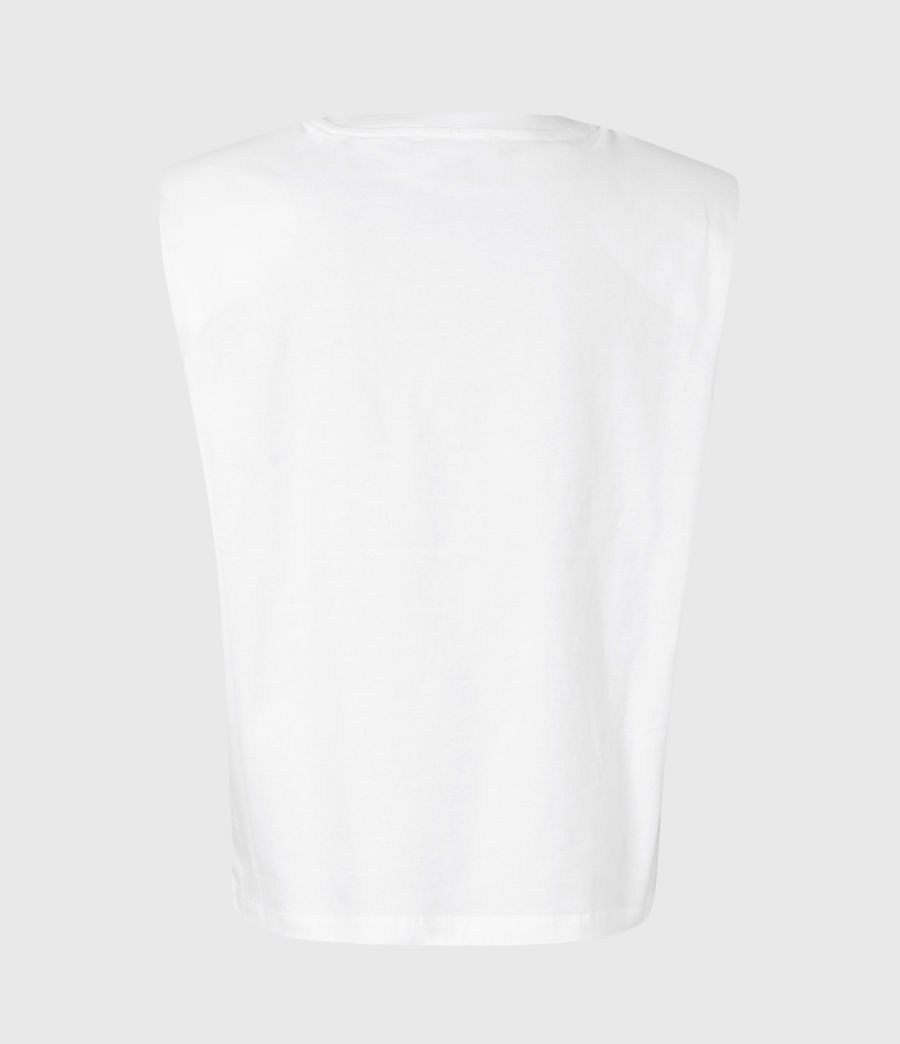 Women's Coni Organic Cotton Tank (optic_white) - Image 3