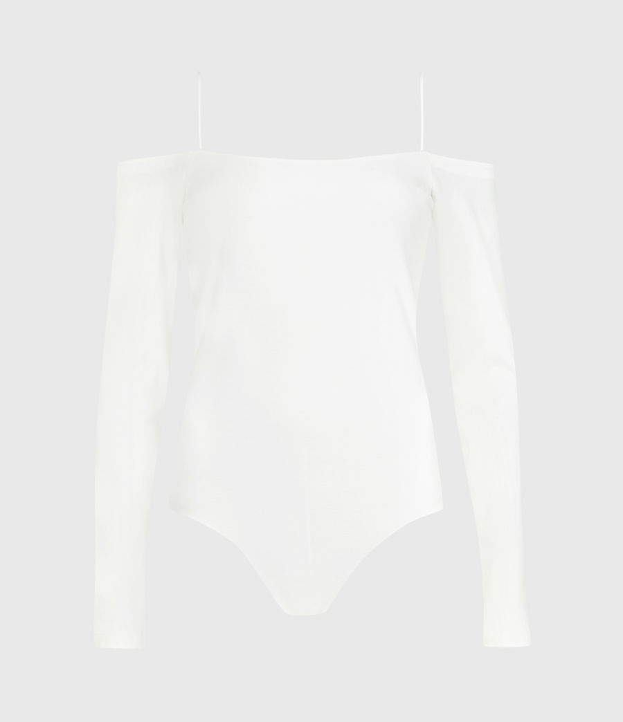 Women's Audery Bodysuit (chalk_white) - Image 2