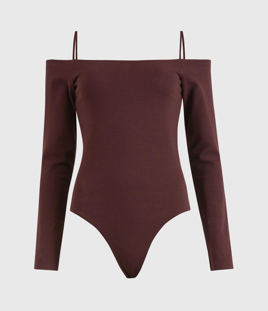 Damen Audery Bodysuit (burgundy_red) - Image 2