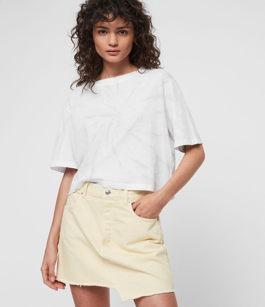 Womens Benno Tiedye T-Shirt (chalk_white_grey) - Image 2