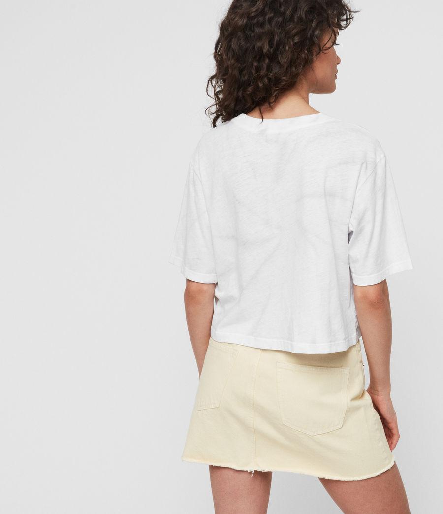 Womens Benno Tiedye T-Shirt (chalk_white_grey) - Image 5