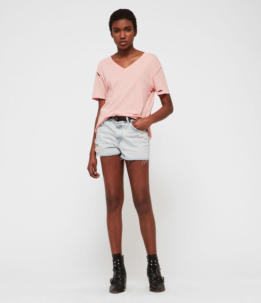 Damen Dime V-Ausschnitt T-Shirt (cami_pink) - Image 2
