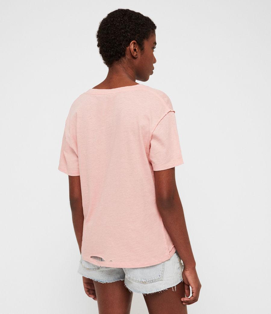 Damen Dime V-Ausschnitt T-Shirt (cami_pink) - Image 4