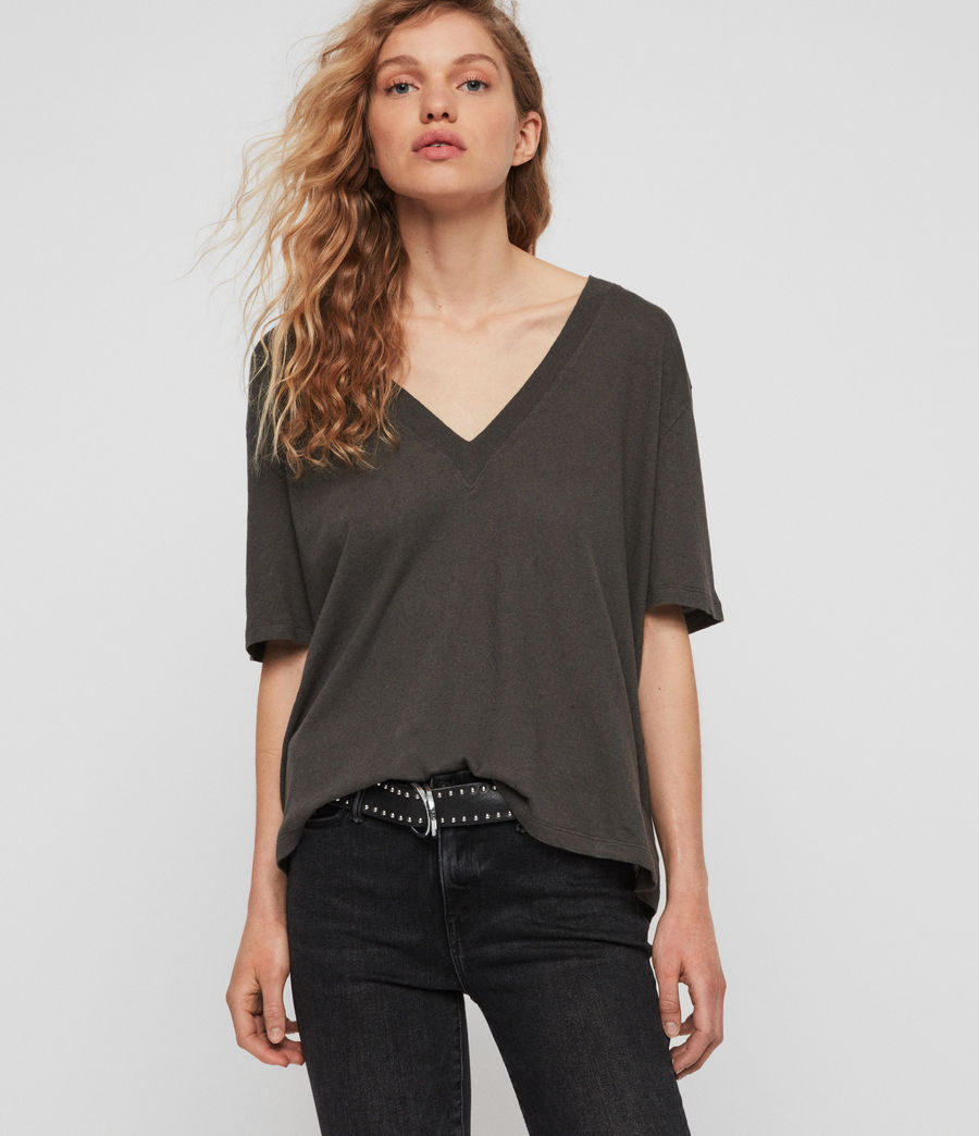Womens Saro T-Shirt (washed_black) - Image 1