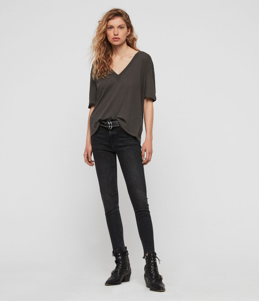 Womens Saro T-Shirt (washed_black) - Image 3