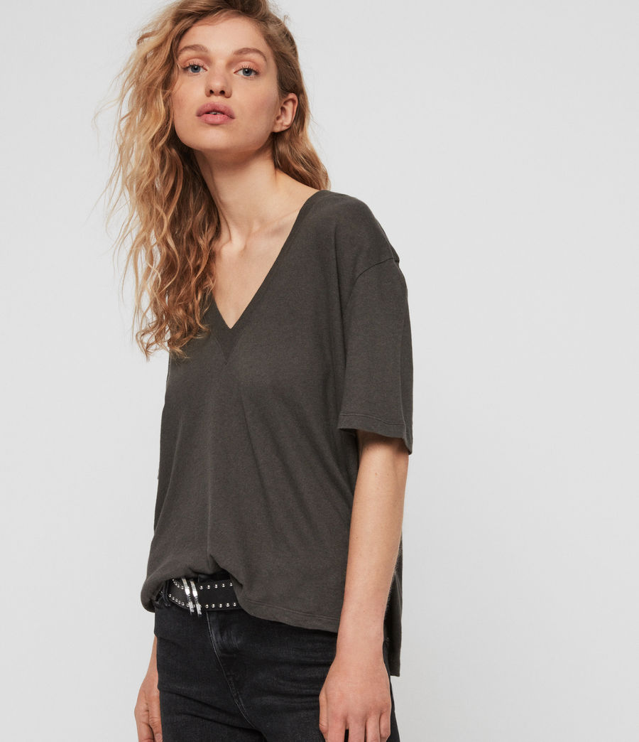 Womens Saro T-Shirt (washed_black) - Image 4
