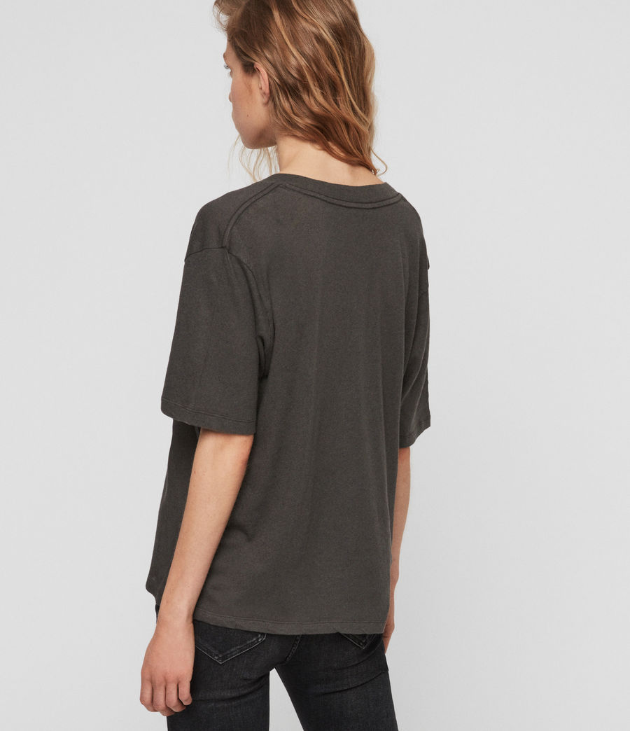 Womens Saro T-Shirt (washed_black) - Image 5