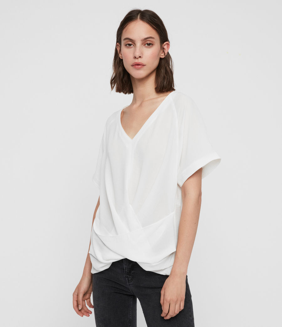 Women's Piper Top (chalk_white) - Image 4