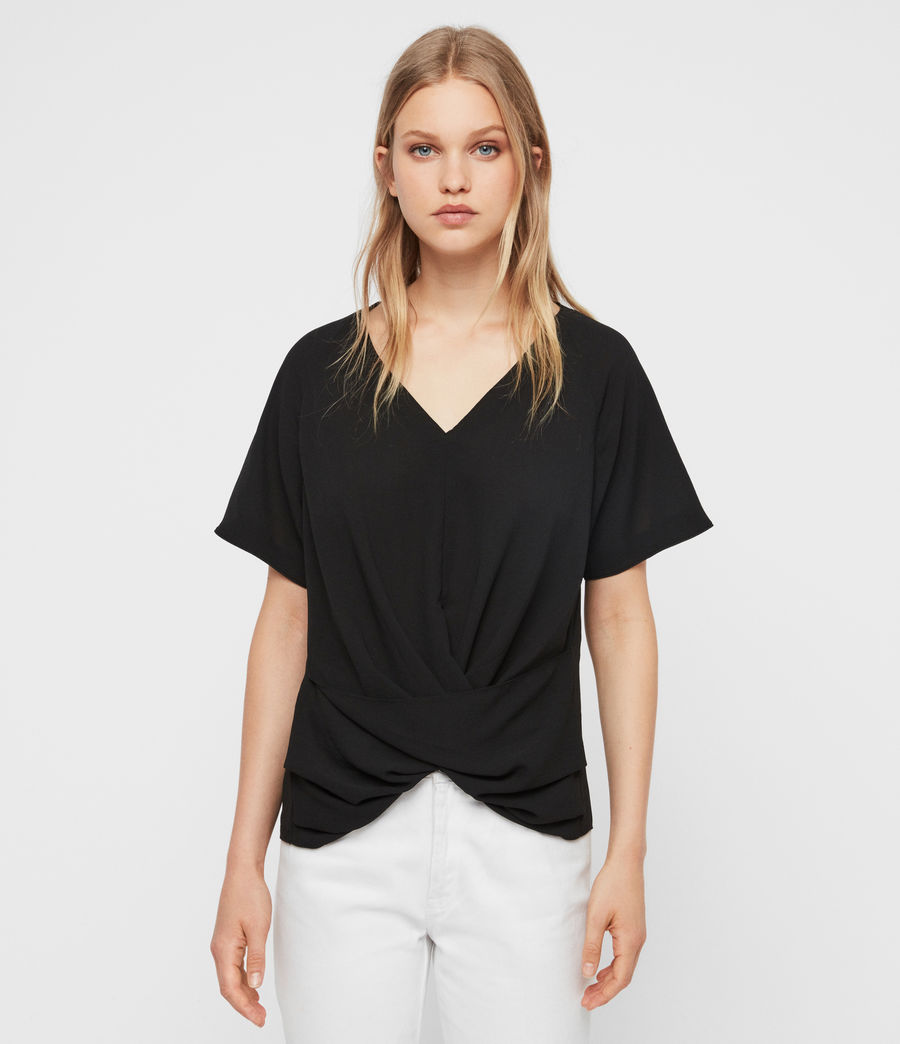 Damen Piper Top (black) - Image 1