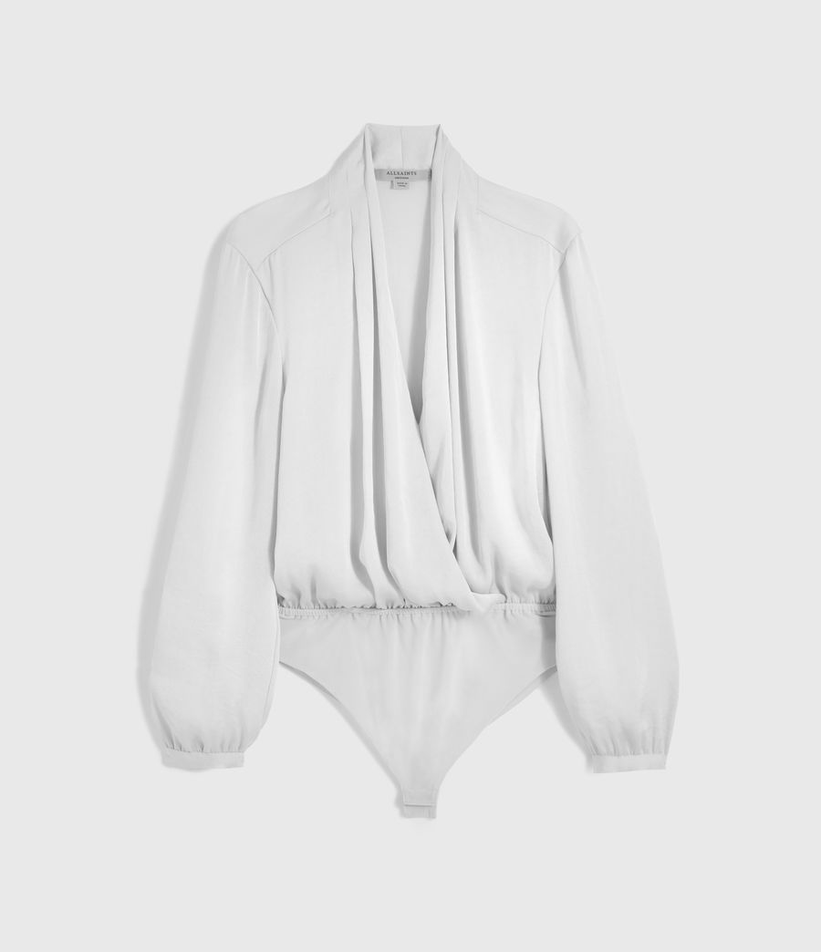 Womens Camille Bodysuit (ice_white) - Image 6