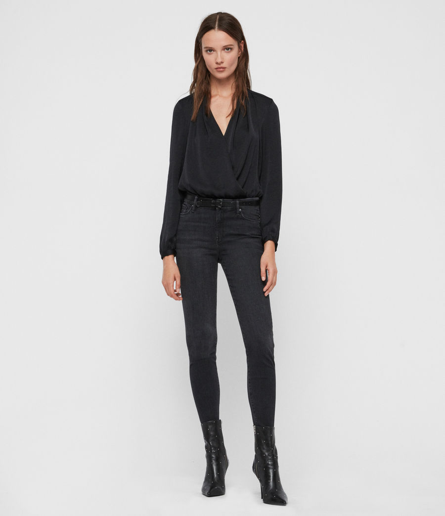 Womens Camille Bodysuit (black) - Image 3
