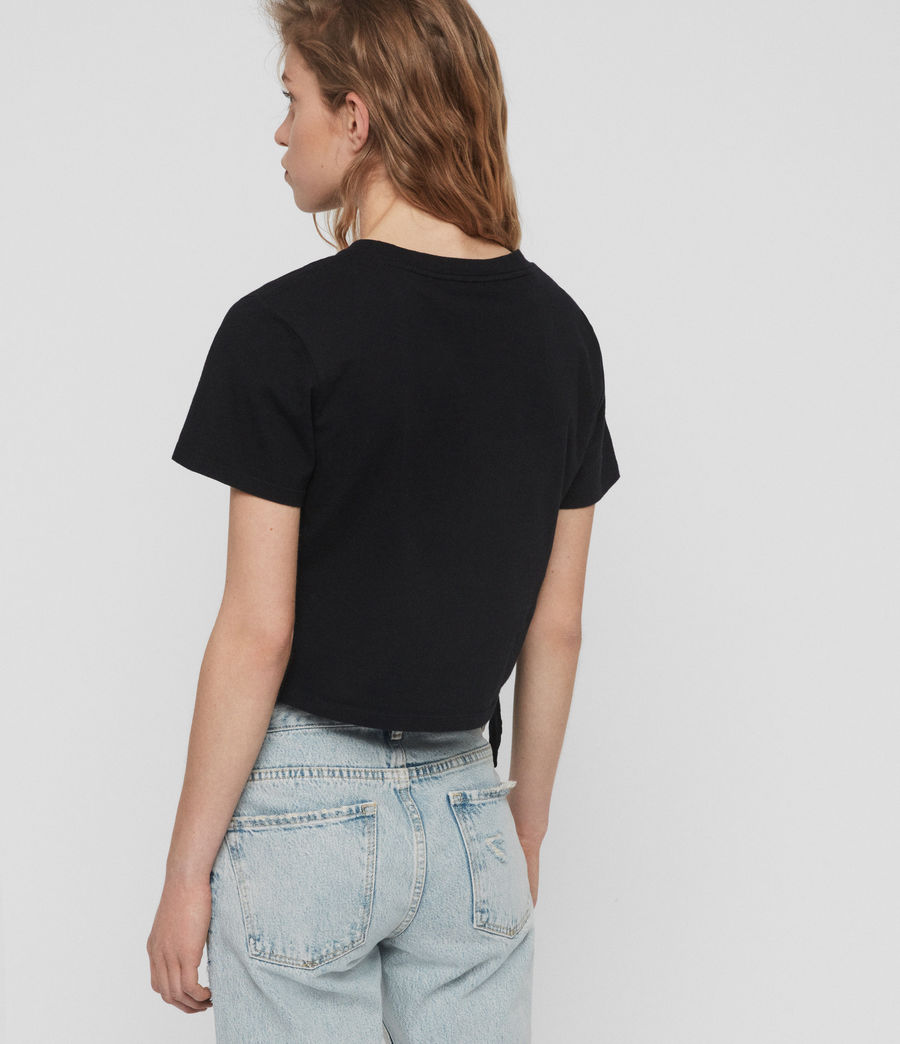 Damen Tujen T-Shirt (black) - Image 5