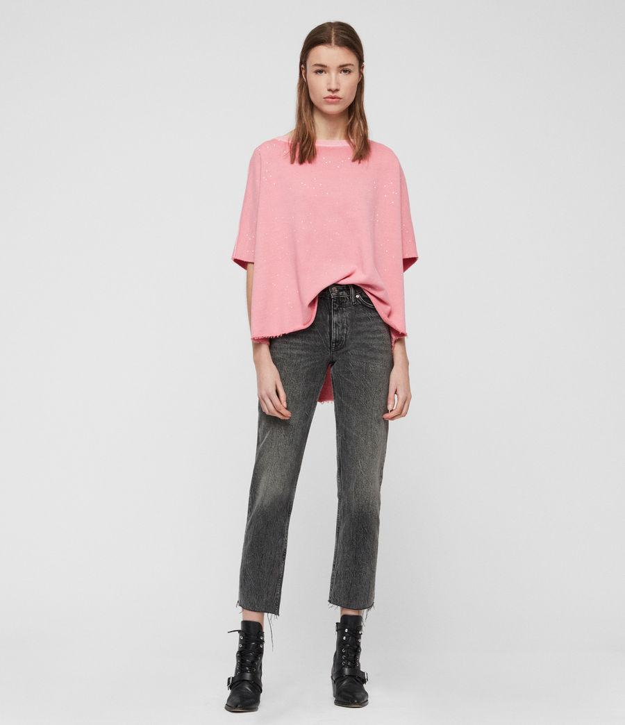 Womens Xonda Splatter Sweatshirt (pink) - Image 1