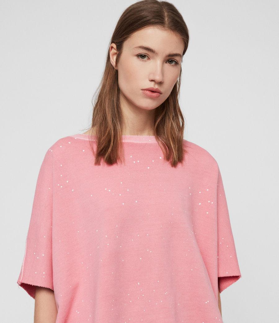 Womens Xonda Splatter Sweatshirt (pink) - Image 2
