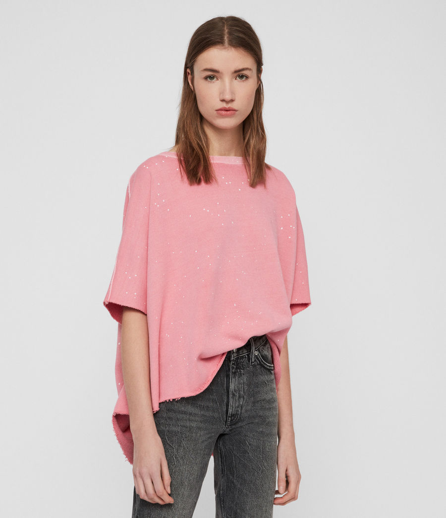 Womens Xonda Splatter Sweatshirt (pink) - Image 3