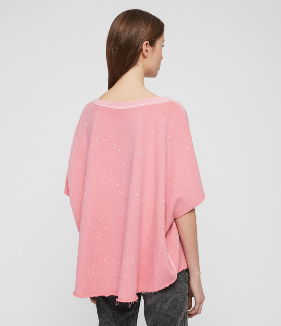 Womens Xonda Splatter Sweatshirt (pink) - Image 4