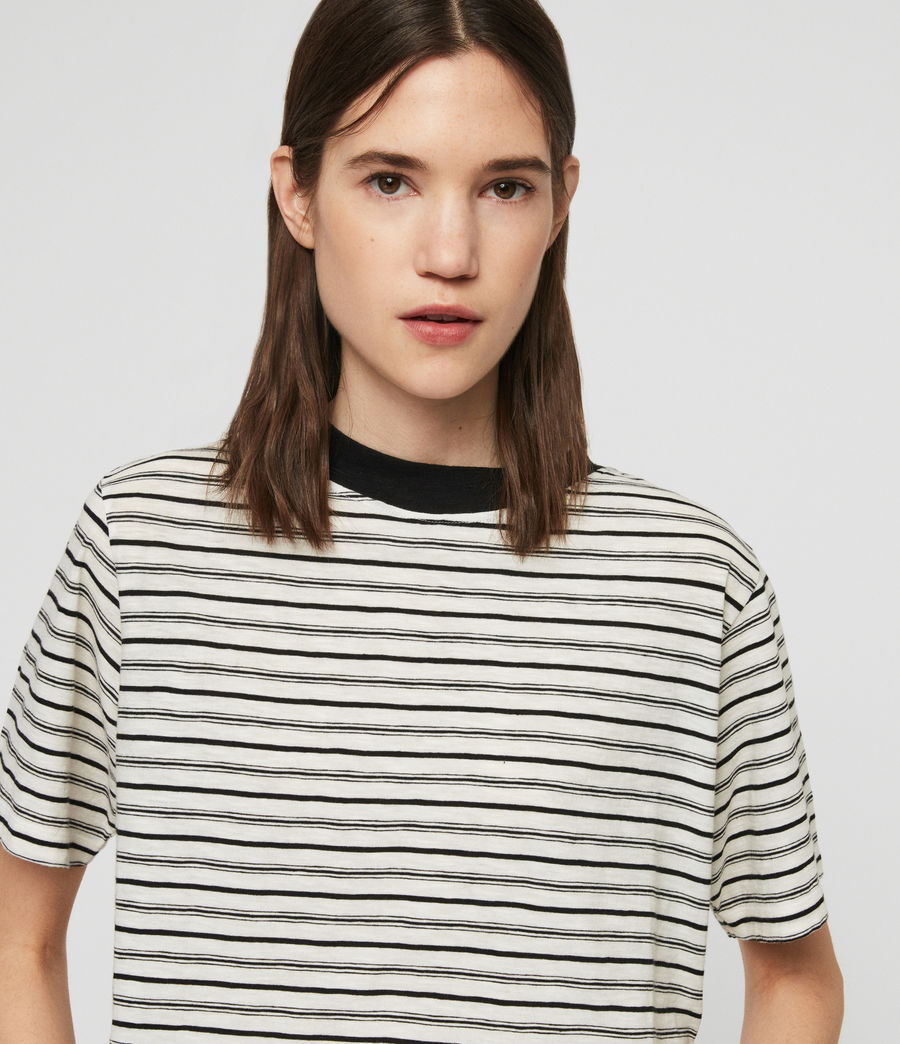 Women's Benno Stripe T-Shirt (ecru_black) - Image 3