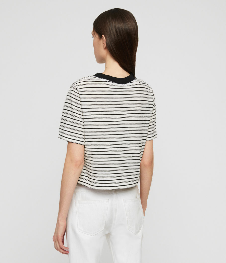 Women's Benno Stripe T-Shirt (ecru_black) - Image 4