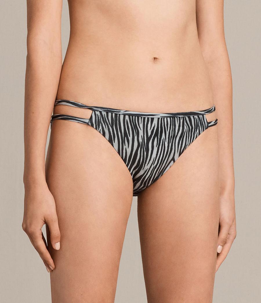 Mujer Cassia Zebra Bikini Bottom (black_white) - Image 3