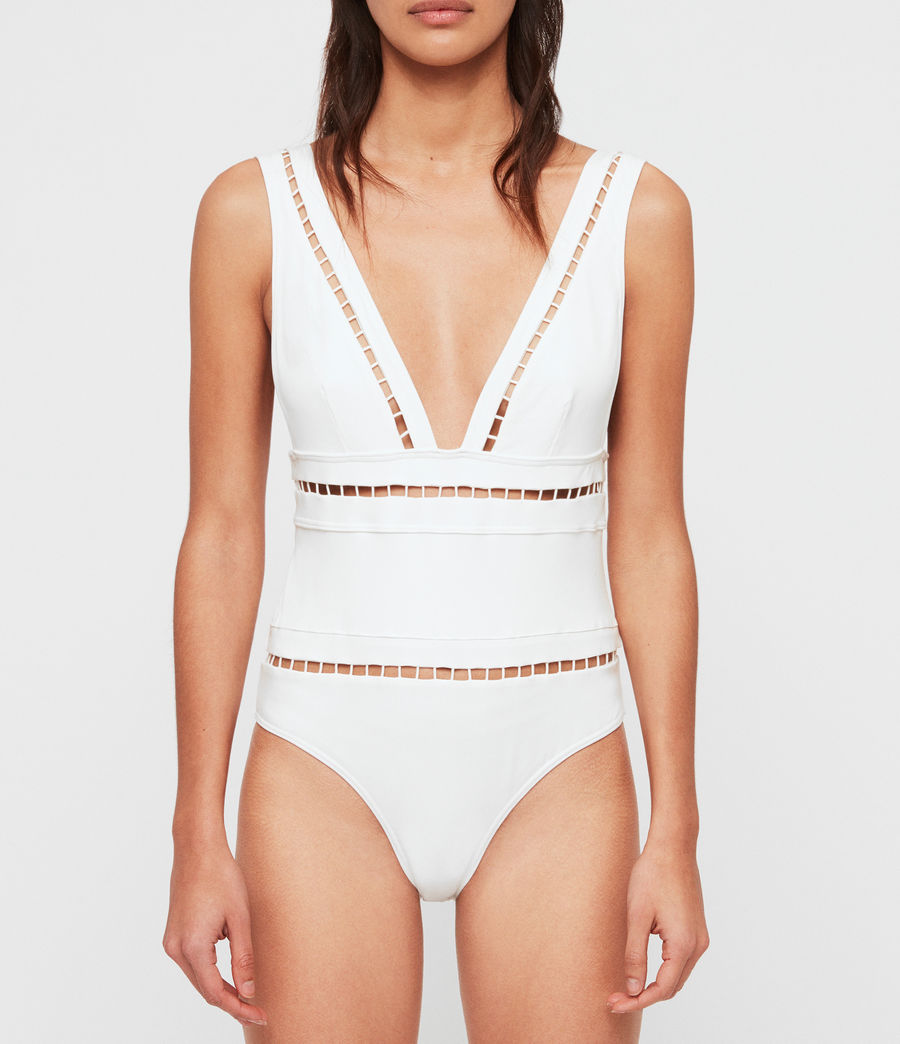 Womens Gorah Swimsuit (white) - Image 1