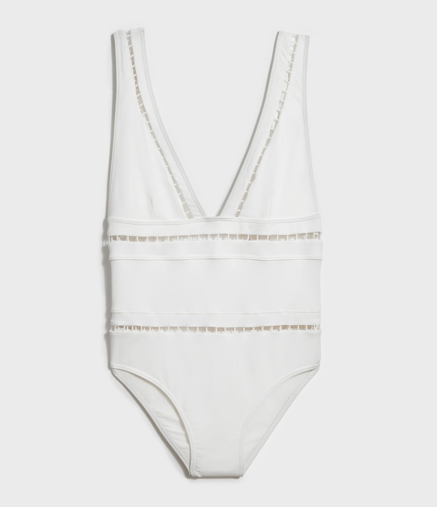 Womens Gorah Swimsuit (white) - Image 4