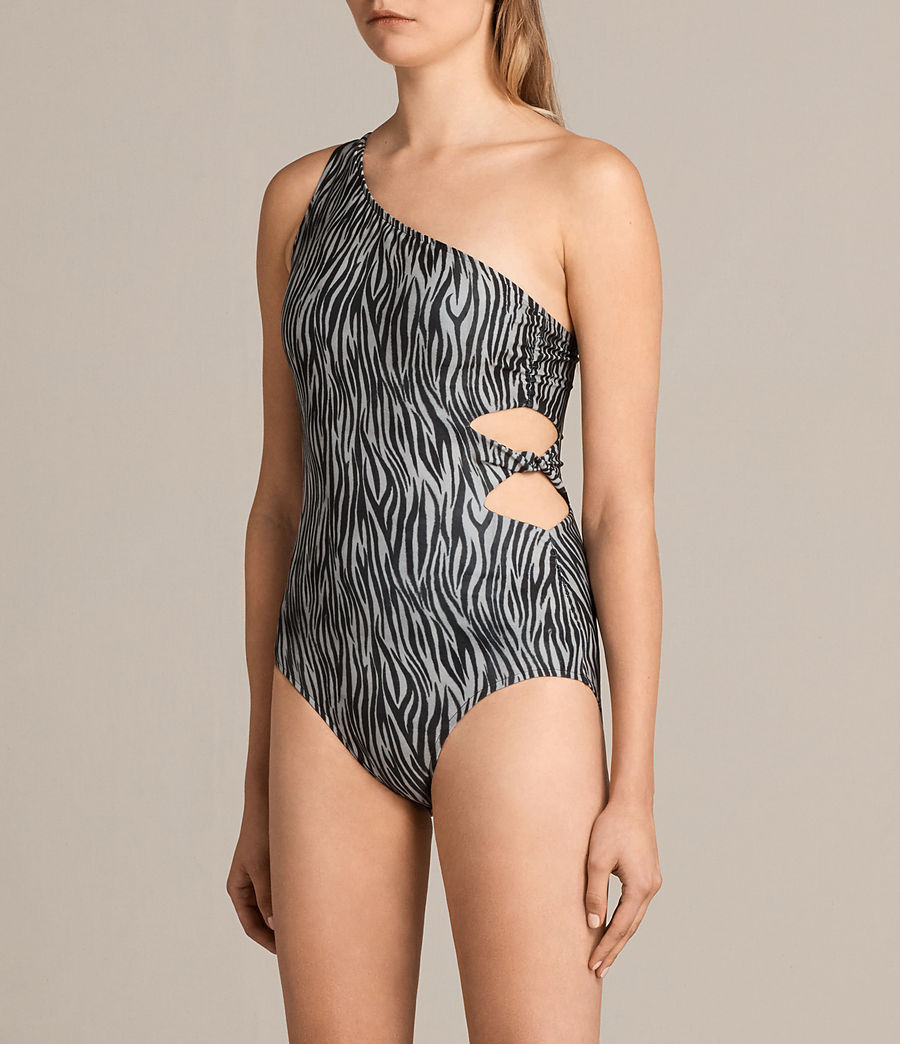 Women's Eulalia Zebra Swimsuit (black_white) - Image 3