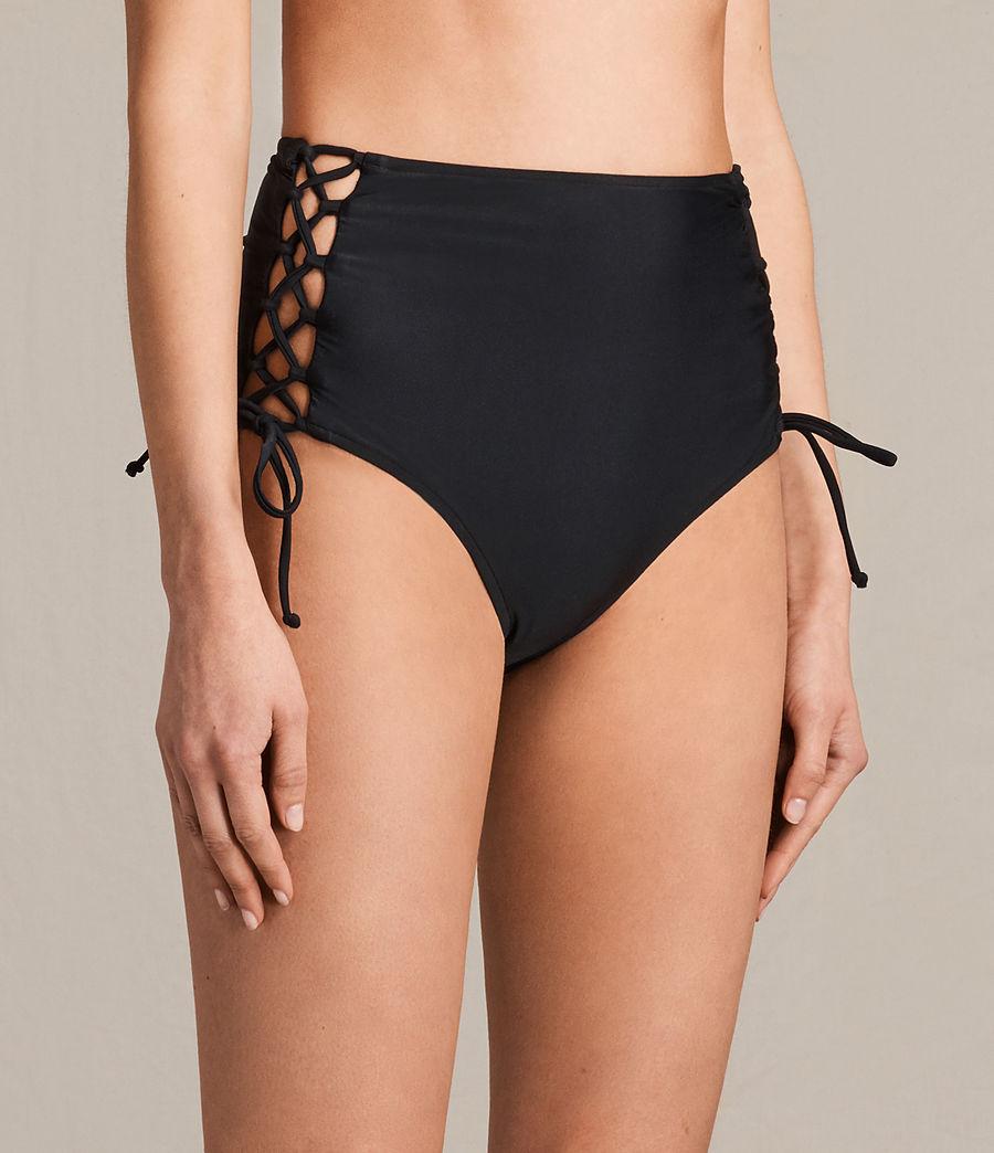 Donne Slip Bikini Lazo vita alta (black) - Image 2