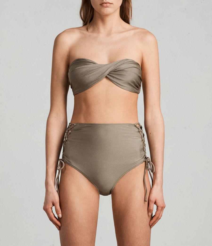 Mujer Top de bikini Lazo Metallic (planet_grey) - Image 1