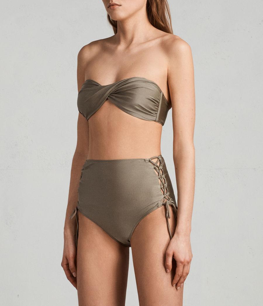 Mujer Top de bikini Lazo Metallic (planet_grey) - Image 2