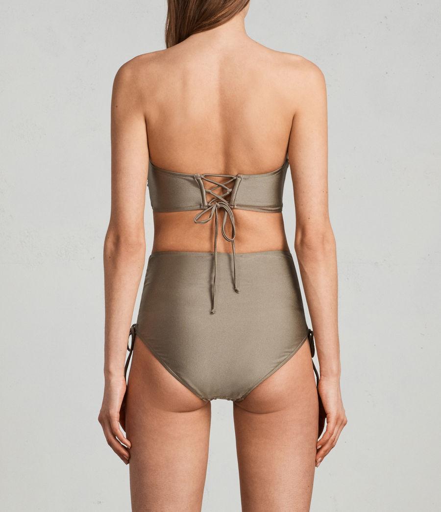 Mujer Top de bikini Lazo Metallic (planet_grey) - Image 3