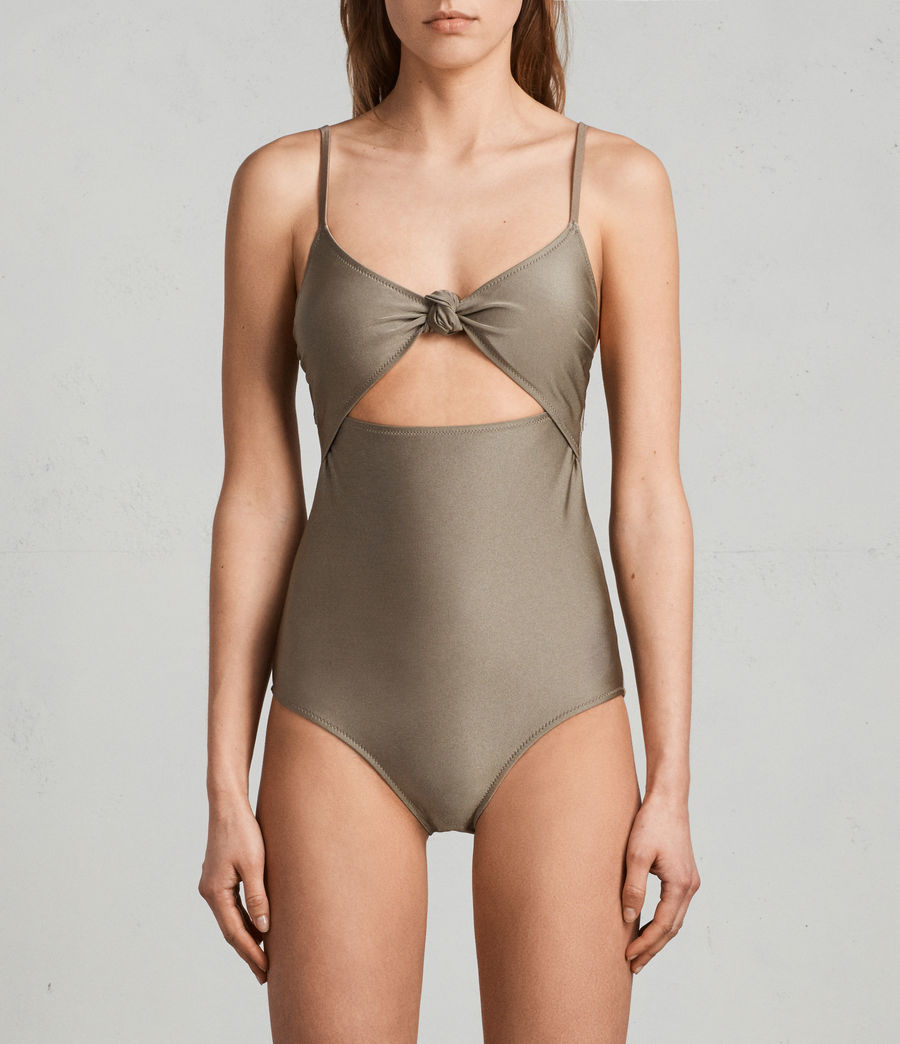 Womens Rita Metallic Swimsuit (planet_grey) - Image 1