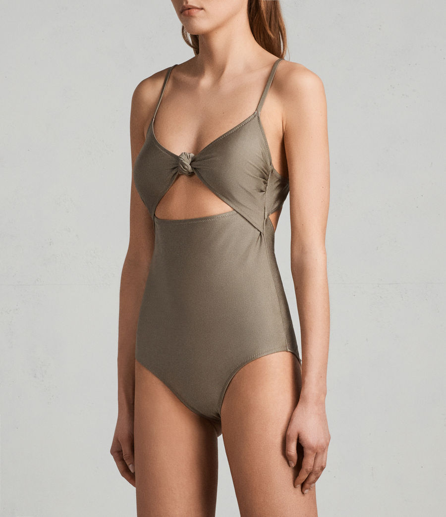 Womens Rita Metallic Swimsuit (planet_grey) - Image 2