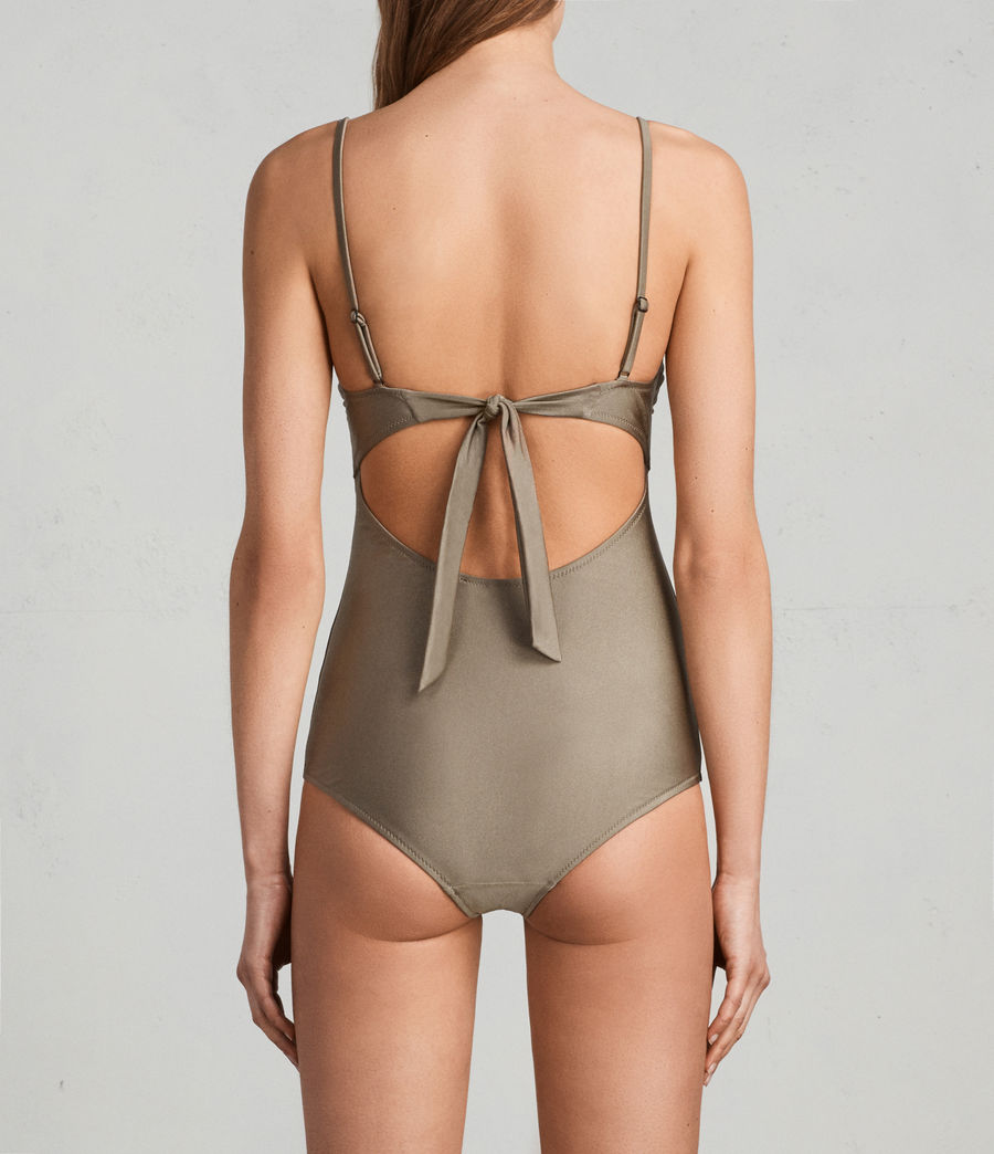 Womens Rita Metallic Swimsuit (planet_grey) - Image 3
