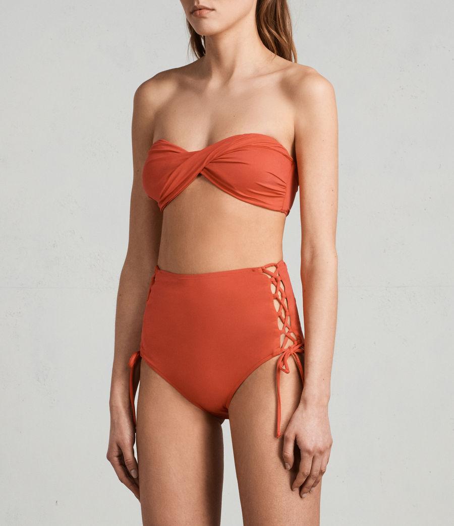 Women's Lazo Twist Bikini Top (red) - Image 3