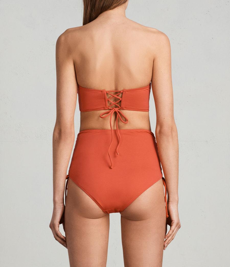 Womens Lazo Twist Bikini Top (red) - Image 4