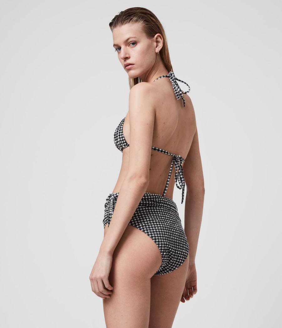 Womens Stef Gingham Bikini Bottoms (black_white) - Image 3