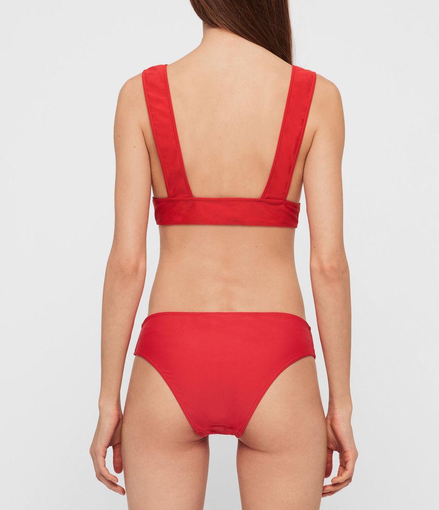 Women's Gina Bikini Top (red) - Image 3