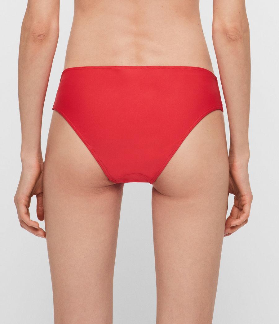 Women's Gina Bikini Bottoms (red) - Image 4