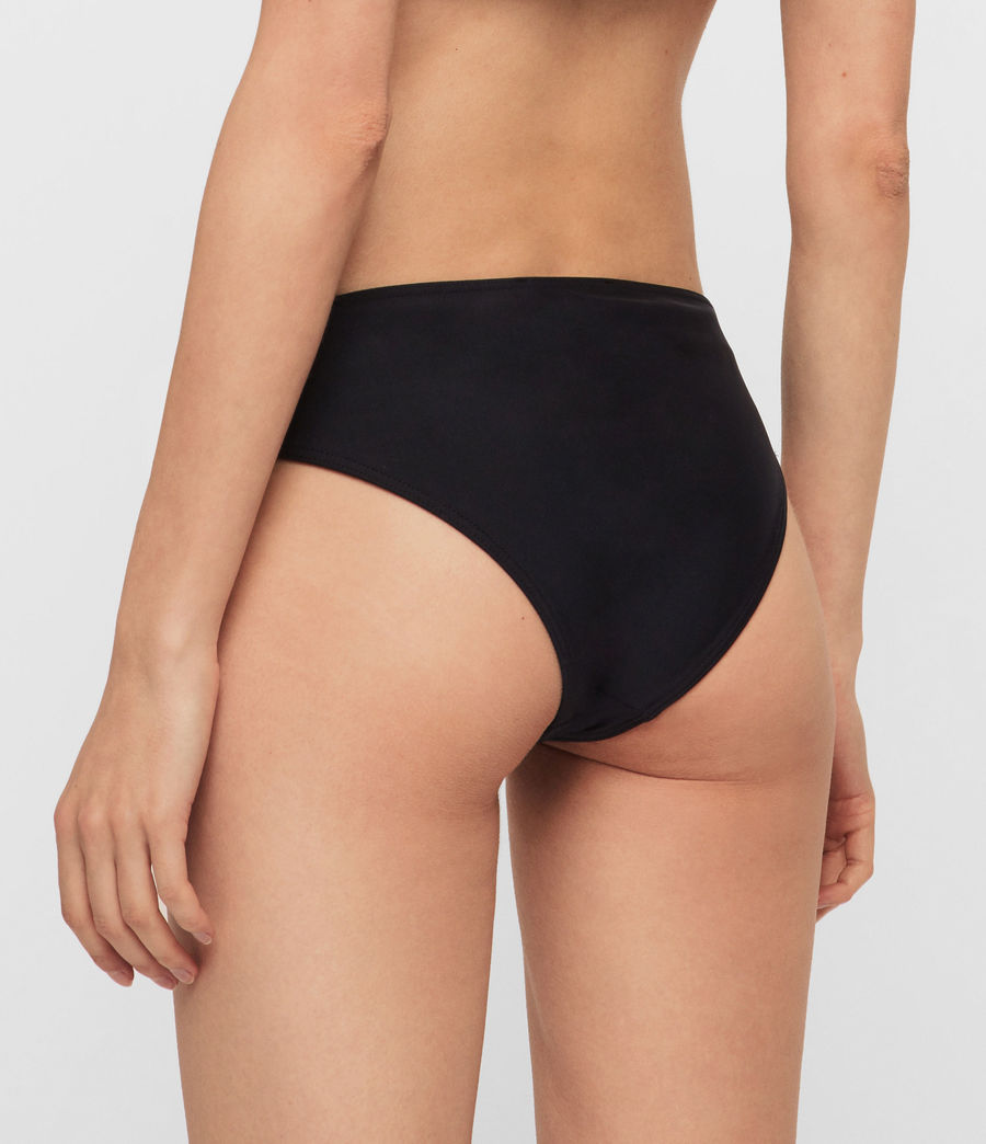 Womens Gina Bikini Bottoms (black) - Image 4