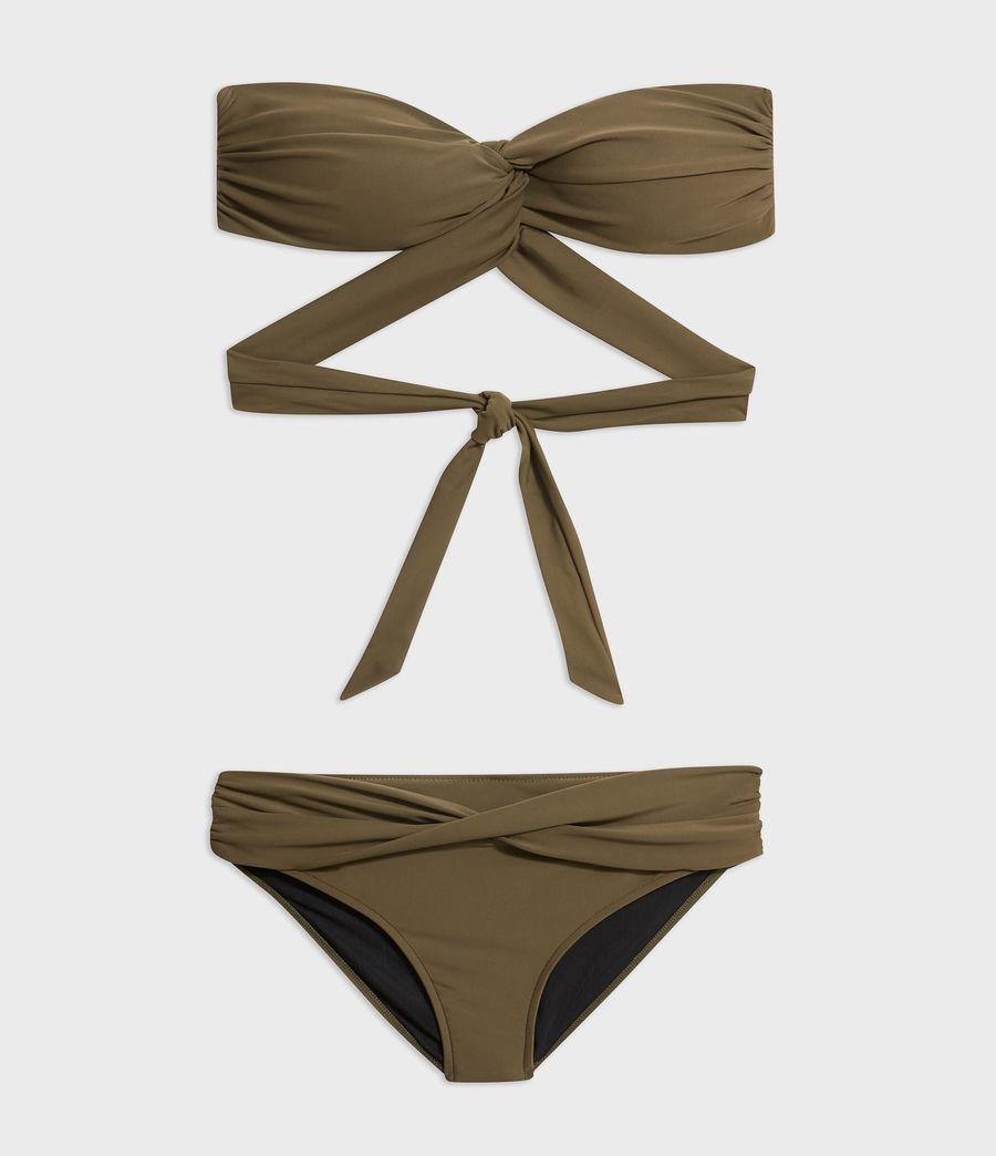 Mujer Top de Bikini Libbie (khaki) - Image 5