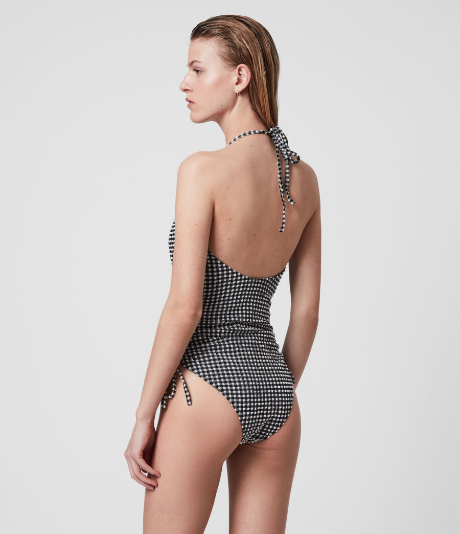 Mujer Stef Gingham Swimsuit (black_white) - Image 7